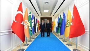 Başkan Polat'tan, Gürkan'a ziyaret