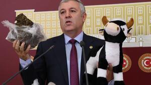 CHPli milletvekilli, Tarım Bakanına Meclisten tezek gönderdi