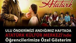 Gelibolu Belediyesinden öğrencilere Dersimiz Atatürk filmi