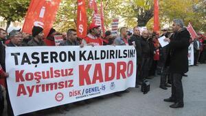 Taşeron işçilerin kadro eylemi