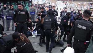 Kadıköy'de eylemcilere polis müdahalesi