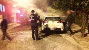 Aydın'da polis otomobili kundaklandı