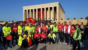 500 kilometrelik yolda pedaller Atatürk için çevrildi