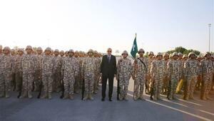Asker Katarda Cumhurbaşkanı Erdoğanı böyle karşıladı
