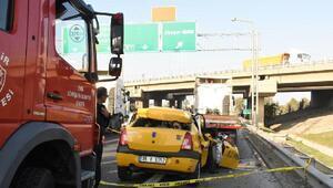 TIRa arkadan çarpan taksinin şoförü öldü