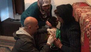 Haymanada Suriyeli çocuklar aşılandı