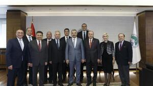 Türkiye İMSAD Yönetim Kurulu Üyeleri Başkan Çelik'i ziyaret etti