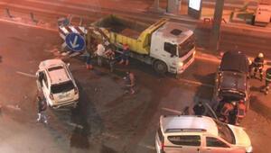 Edirnekapıda zincirleme trafik kazası