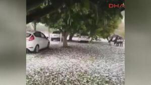 Mersin sağanak ve dolu yağışı etkili oldu