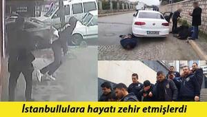 İstanbullulara hayatı zehir etmişlerdi Çadırda yaşayan çete yakalandı