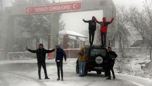 Dereköy Sınır Kapısında kar yağışı