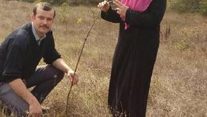 Kadın çiftçinin, kuşburnu üretim projesine bakanlık hibesi