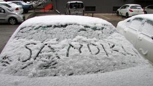 Sandıklıya mevsimin ilk karı yağdı