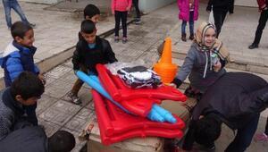 Arka Sokakların Mesut komiseri, Sur'daki çocukları sevindirdi