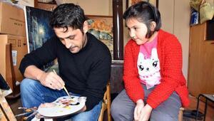 Baba- kızın resim merakı