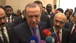 Erdoğan, gazetecilerin sorusunu yanıtladı