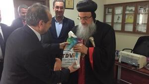 Müftü, Süryani Metropolite, Kuran ve Hz.Muhammedin hayatını anlatan kitap hediye etti