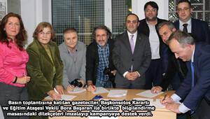 Frankfurt Başkonsolosu Burak Karartı Türkçe imza kampanyasına destek istedi