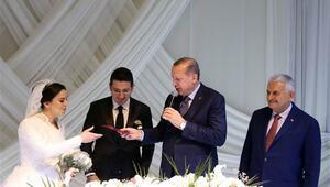 Erdoğan ve Yıldırım nikah töreninde