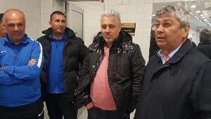 (özel) Lucescu, Kayserispor soyunma odasına indi..