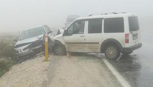 Hatayda yoğun sis kazası: 3 yaralı
