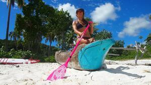 'Rüzgârın kızı' sörfün cennetinde