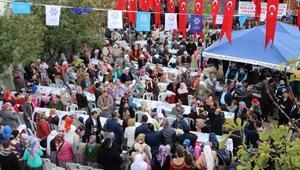 Başkan Çerçioğluna köylülerden yemekli teşekkür