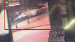 Bağdat Caddesindeki kaza anı güvenlik kamerasında