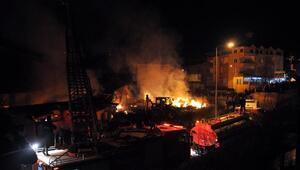 Zonguldakta mobilya fabrikası yandı