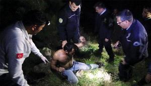 Kendisini kurtarmaya çalışan polislere zor anlar yaşattı
