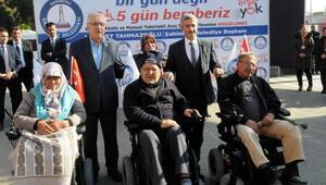 Gaziantepte 61 engelliye tekerlekli sandalye