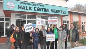 Çerkezköyde bakanlık yetkililerine termik santral protestosu
