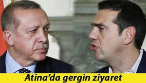 Erdoğandan Atinada gergin ziyaret... Önce Cumhurbaşkanı sonra Başbakan ile tarihi restleşme