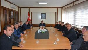 Muhtarlar, Vali Şimşek'i ziyaret etti