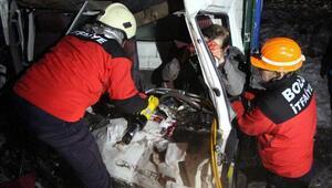 Boluda zincirleme kaza: 1 yaralı