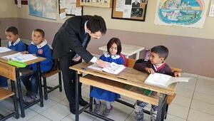 Kaymakam Şan, uzaktaki öğrencilerle buluştu