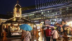 Noel pazarı yakınında mermi dolu poşet