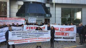 Dumankaya mağdurları TMSF önünde