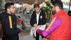 Galatasaray kafilesi Sivasa geldi