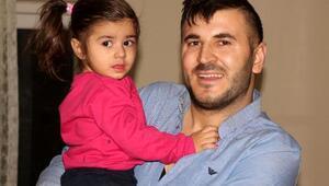 Eşinin kızına şiddetini gizli kameraya kaydeden baba kızına kavuştu