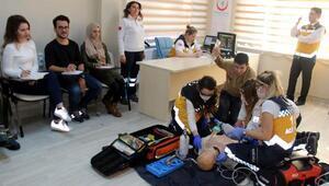 Trakyanın sağlıkçıları gerçeği aratmayan eğitimden geçiyor