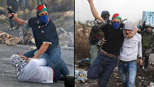 Son dakika Filistinden şok fotoğraflar Yüzleri maskeli İsrailli askerler sahnede