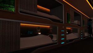 İngiliz yatak firması uyku kabinli otobüsler geliştirdi