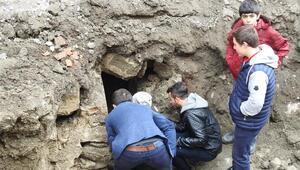Çorumda bulunan tarihi tünelde inceleme başlatıldı