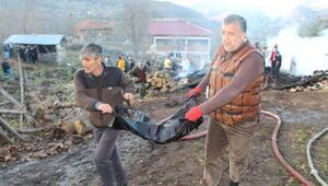 Köydeki yangında 3 çocuk öldü (4)