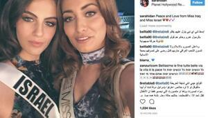 Irak güzeli, İsrail güzeliyle çektirdiği fotoğraf yüzünden ülkeden kaçtı