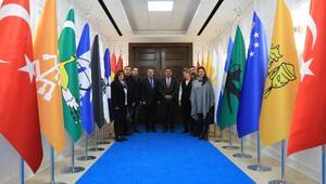 Şahinden, Başkan Gürkan'a ziyaret