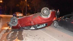 Sinopta otomobil takla attı: 2 yaralı