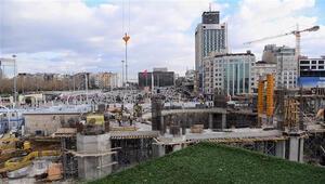 Taksim Camiinin son durumu böyle görüntülendi Başkan tarih verdi