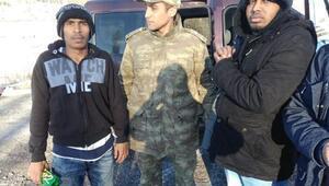 Ardahanda kaçakları köylüler yakaladı